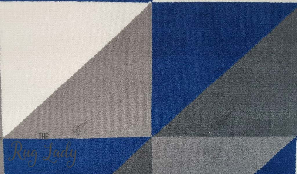 Industry Royal Blue White Grey Geometric Triangle