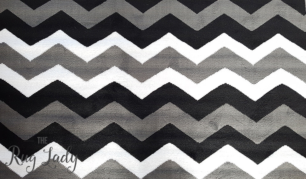 Industry Grey Black Monochrome Chevron