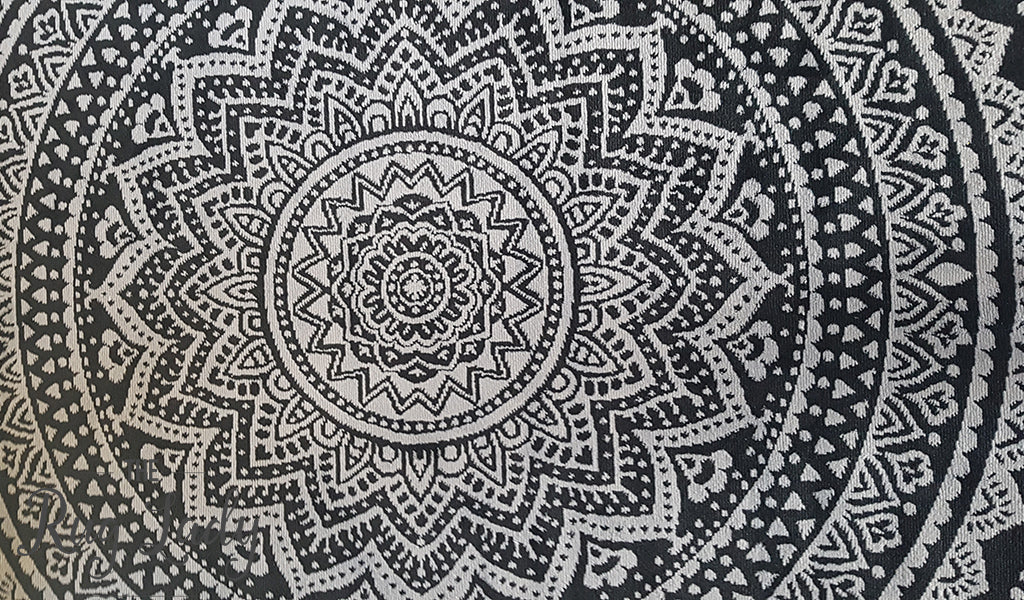 Industry Mandala Black Grey Rug Melbourne