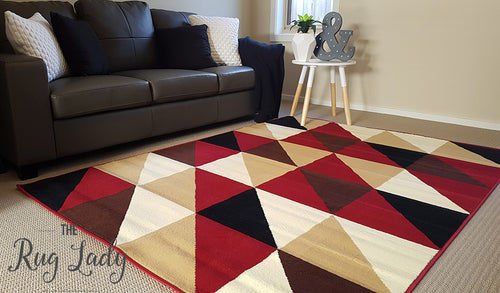 Industry Red Bordeaux Geometric Triangle