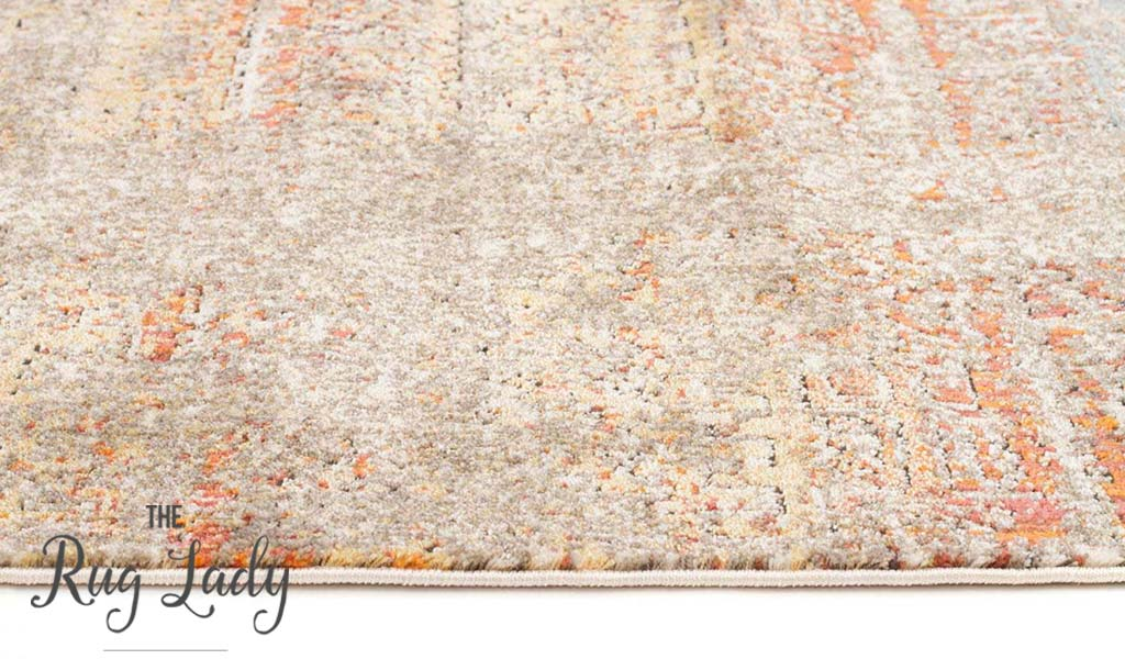 Bella Multicoloured Distressed Vintage Rug