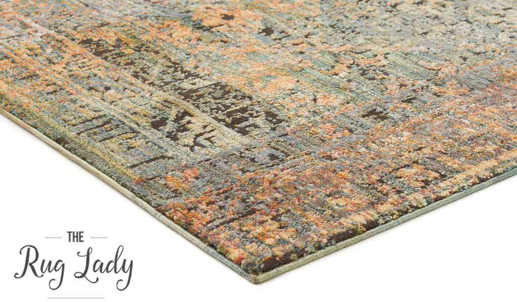 Bella Blue Oriental Distressed Vintage Rug