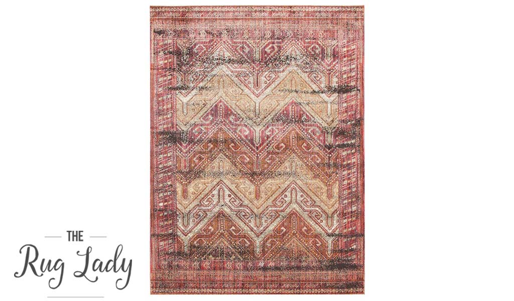 Bella Red Traditional Distressed Vintage Rug