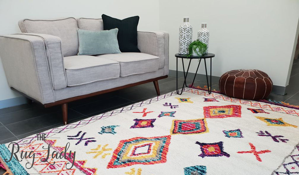 Karsha Cream Multi Coloured Bohemian Chic Tribal Rug