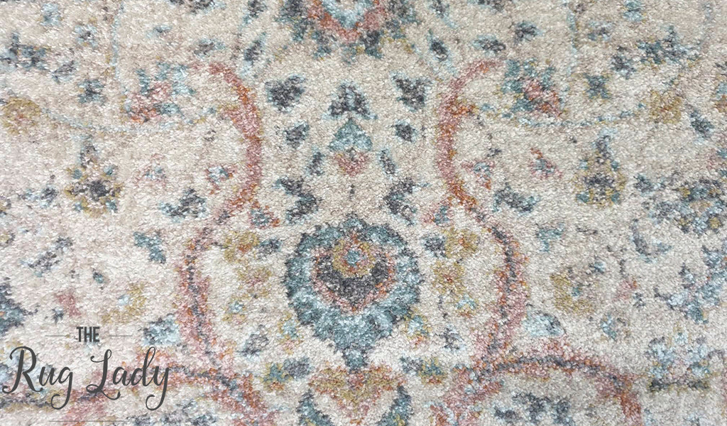 Heirloom Ivory Distressed Floral Rug