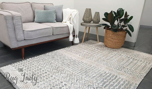 Lenni Grey Tribal Distressed Ornate Rug