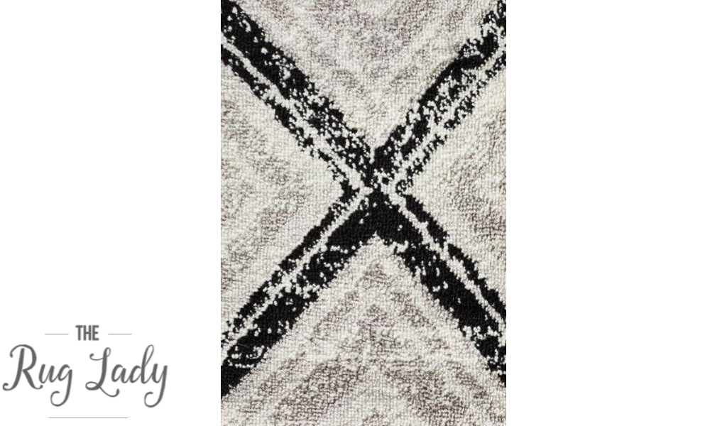 Metropolitan Blythe Black Geometric Diamonds Rug