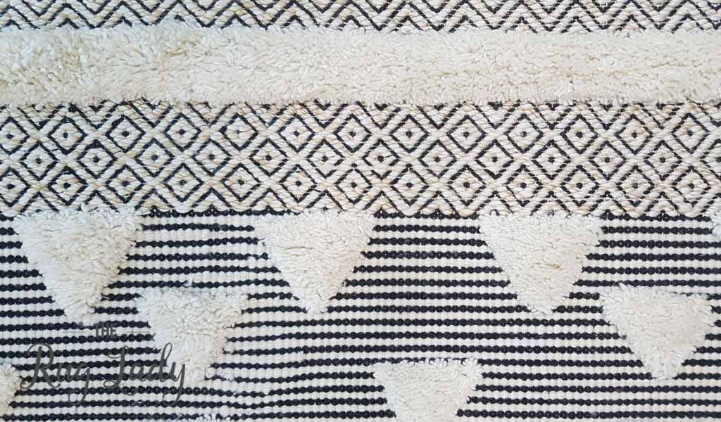 Bohemian Ivory Hand Loomed Textured Rug The Rug Lady