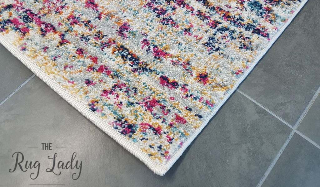 Mystique Multicoloured Distressed Transitional Rug The