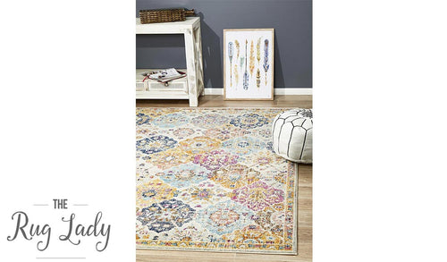 Maya Rust Multicolour Transitional Rug