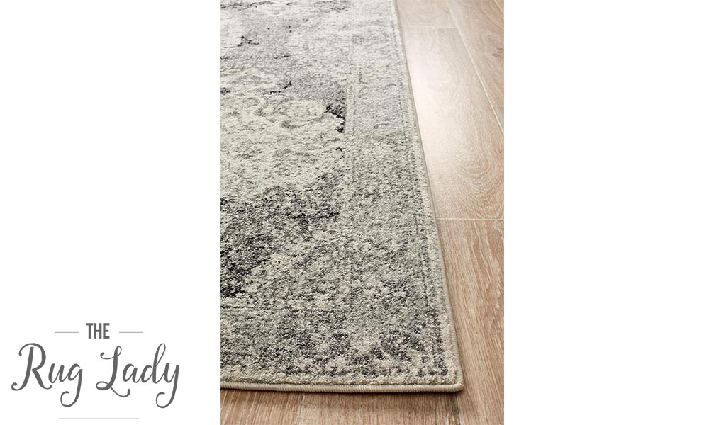 Maya Charcoal Grey Medallion Transitional Hallway Runner