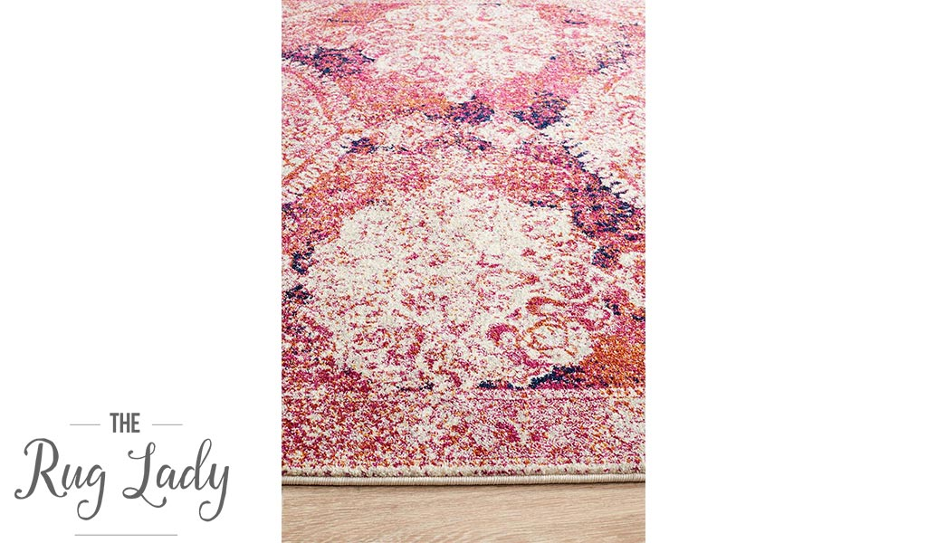 Maya Fuschia Medallion Transitional Hallway Runner