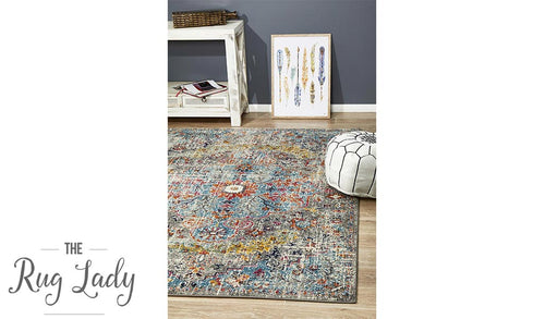 Maya Multi Colour Over Dyed Transitional Rug