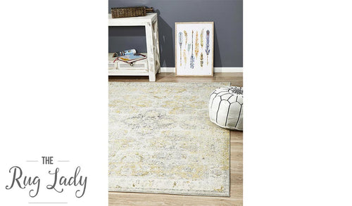 Maya Silver Yellow Over Dyed Transitional Rug