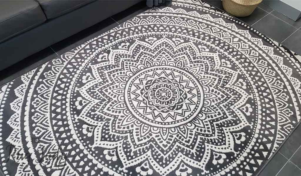 Industry Mandala Grey And Natural White The Rug Lady