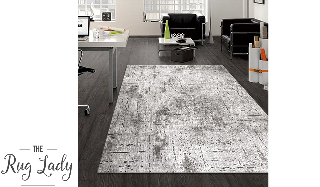 Supreme Grey Textured Abstract Rug