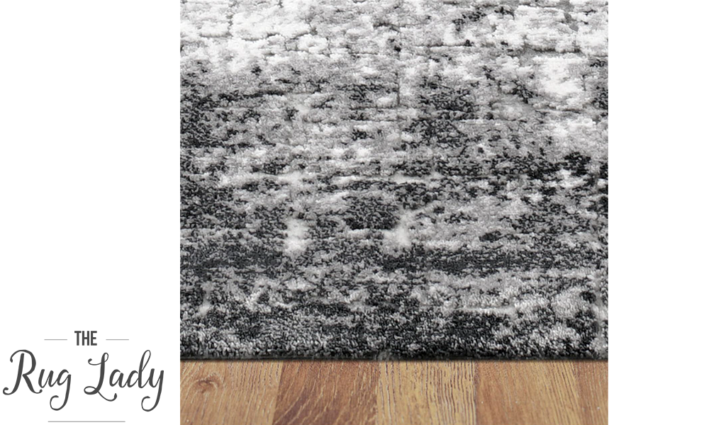 Supreme Grey Over Dyed Abstract Pattern Rug