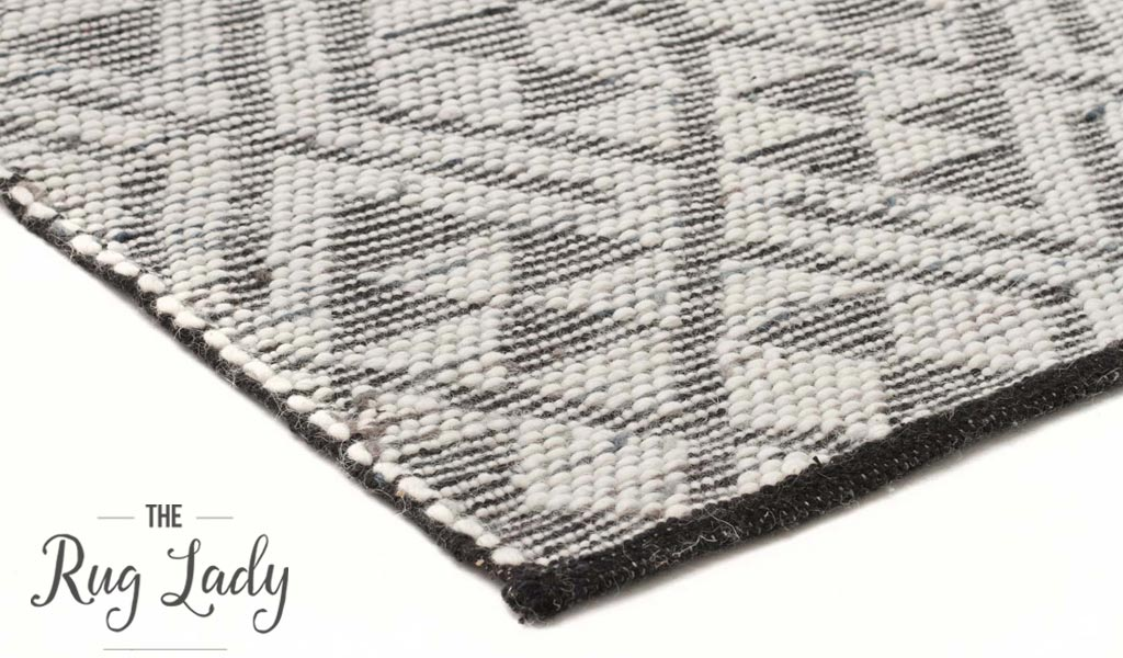 Bohemian Natural Denim Hand Loomed Textured Rug The Rug Lady