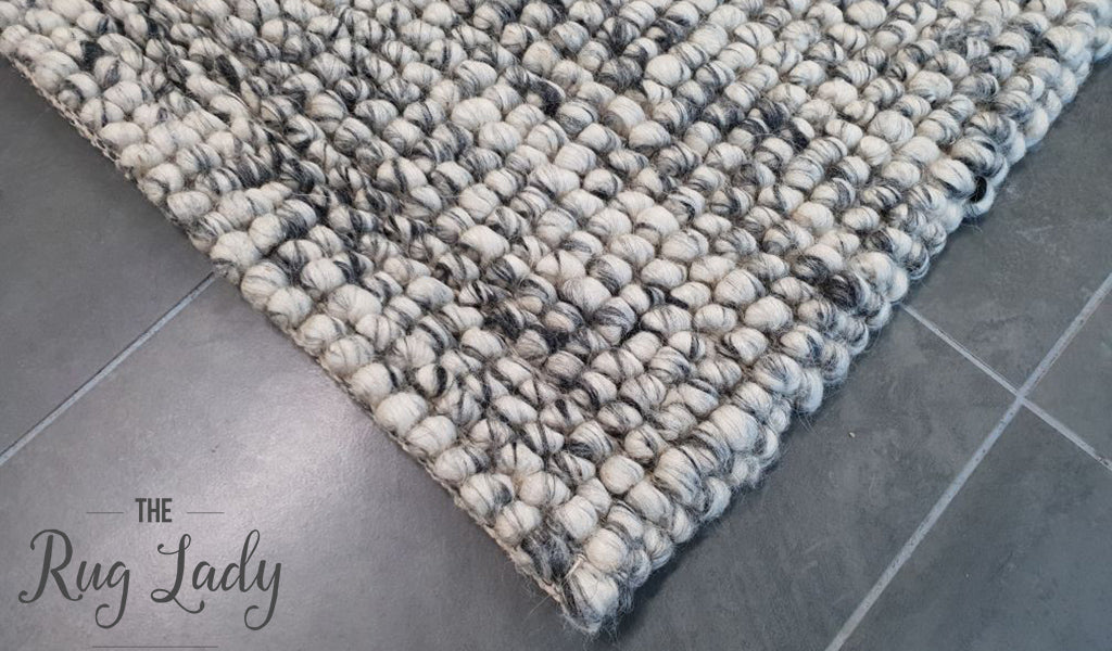 Elements Sierra Grey Felted Wool Rug