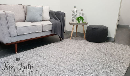 Elements Luna Grey Felted Wool Rug