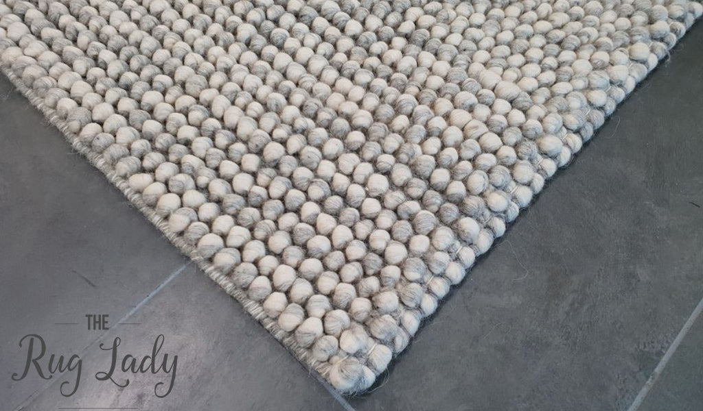 Elements Nirvana Silver Felted Wool Rug