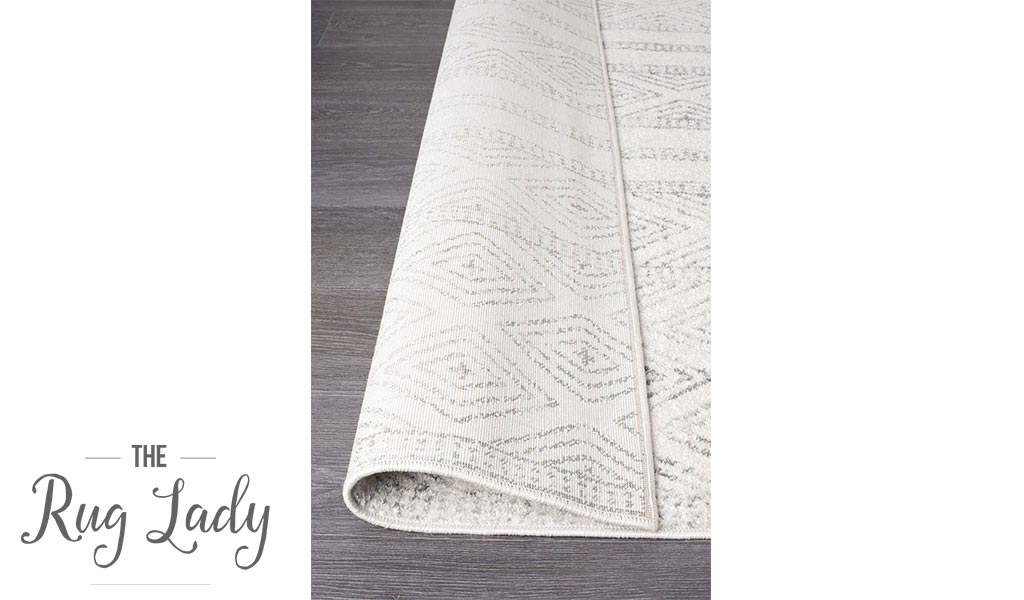 Heaven Grey Tribal Diamond Pattern Hallway Runner
