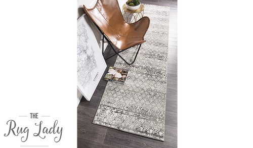 Heaven Dark Grey Diamond Pattern Hallway Runner
