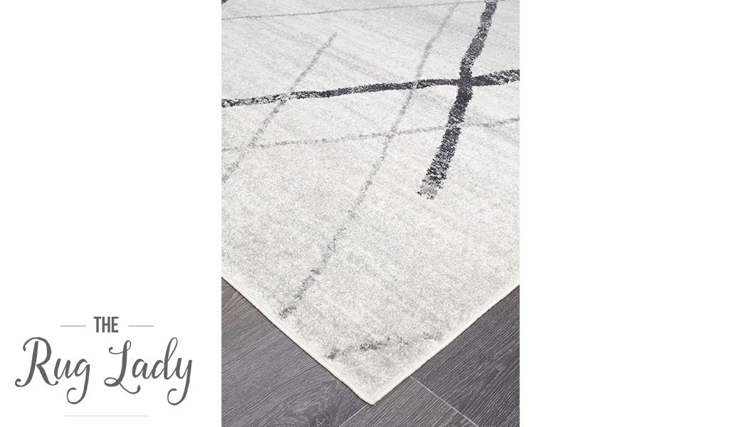Heaven Grey Abstract Diamond Rug