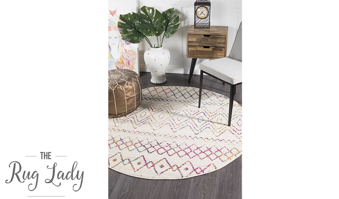 Heaven Multi Colour Tribal Pattern Round Rug