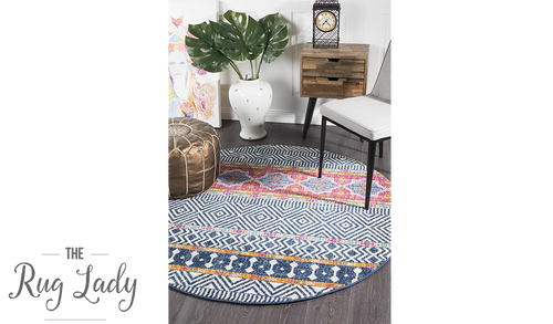 Heaven Multicoloured Tribal Bohemian Round Rug