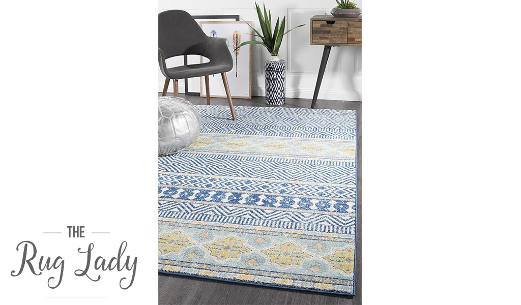 Heaven Navy Blue Tribal Bohemian Rug
