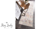 Heaven Multicolour Tribal Geometric Diamond Hallway Runner