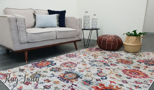 Ophelia Multicoloured Floral Transitional Rug