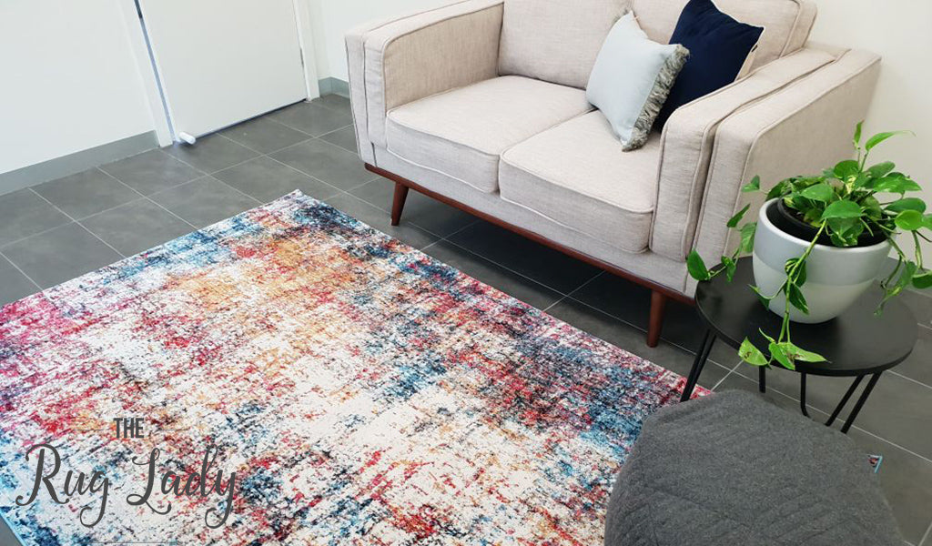 Ophelia Multi Colour Abstract Wash Rug