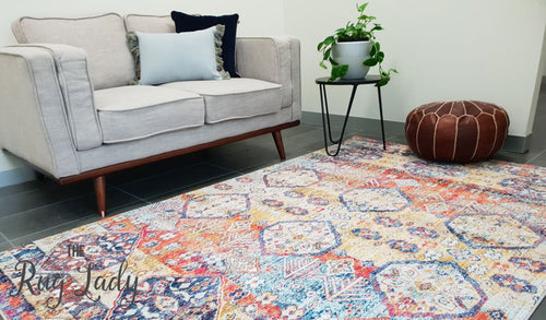 Ophelia Multi Colour Geometric Transitional Rug