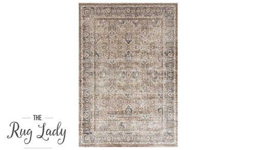 Grace Cream Oriental Faded Wash Transitional Rug