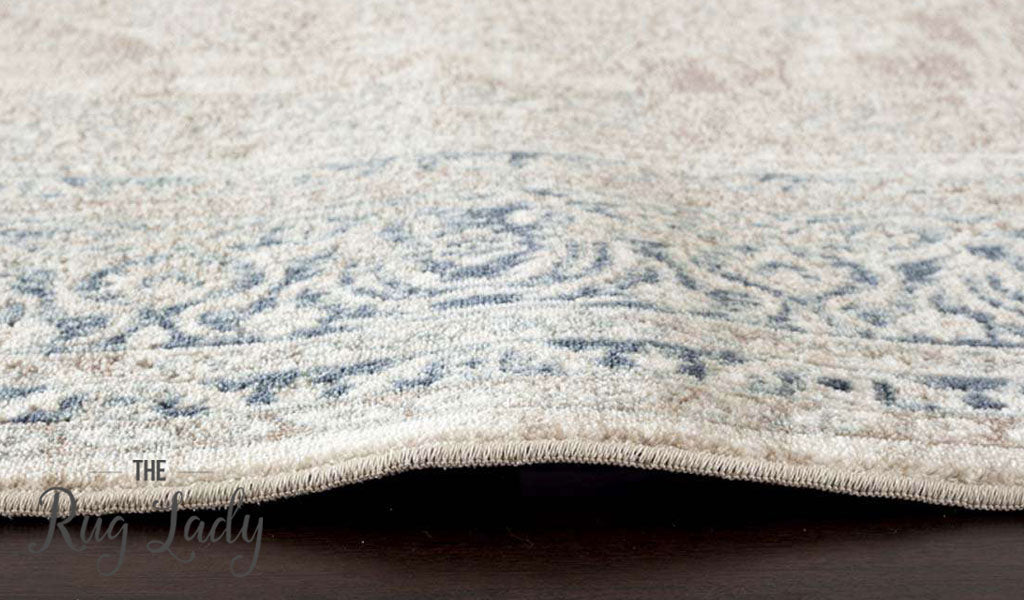 Grace Cream Medallion Faded Wash Transitional Rug