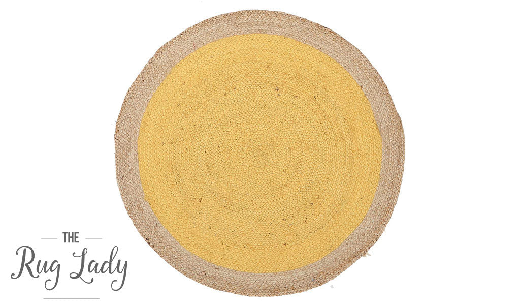 Polo Yellow Jute Round