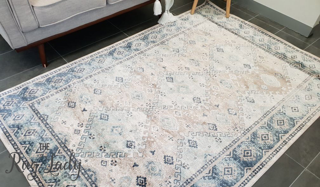 Grace Beige Faded Wash Transitional Rug