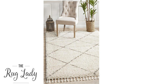 Saffia Natural Diamonds Plush Boho Rug