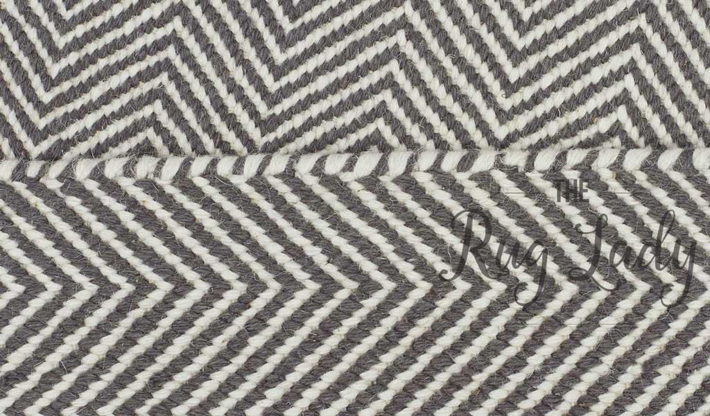 Grey Chevron Scandinavian Wool Rug