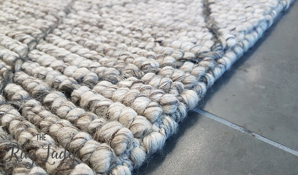 Excellent Savannah Grey Tribal Diamond Felted Wool Rug – The Rug Lady JI98