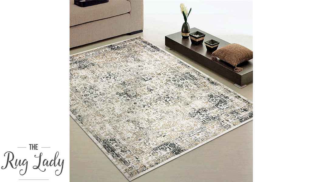 Estelle Multi Colour Distressed Rug