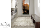 Estelle Beige Grey Abstract Distressed Rug