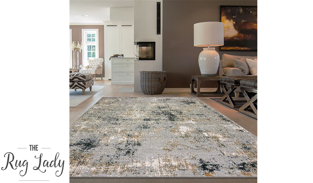 Estelle Grey Blue Marble Distressed Rug