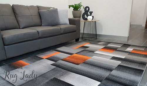 Style Grey Orange Geometric Square