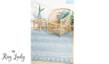 Tash Blue Boho Tribal Outdoor Rug