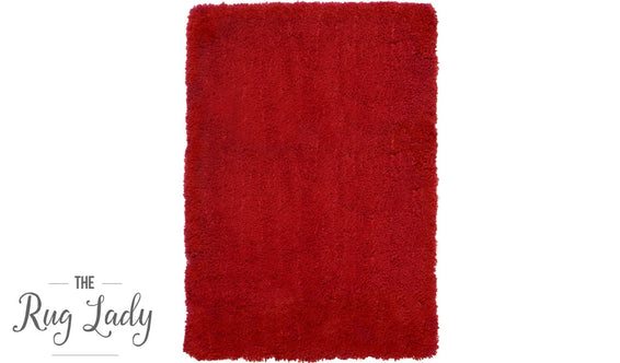 City Red Shaggy Rug