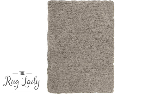 City Brown Grey Shaggy Rug