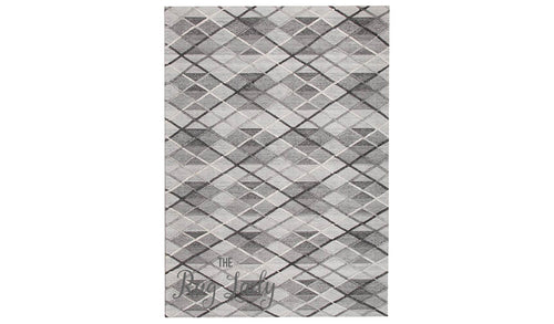 Visage Grey Argyle Diamond Pattern Rug
